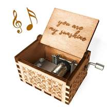 Ucuber You are My Sunshine Music Box - Wood Laser Engraved Vintage Cute Box Best Gift for Wife, Son, Daughter, Dad, Mom, Girlfriend, Wedding Anniversary/Birthday/Christmas/Valentine's Day