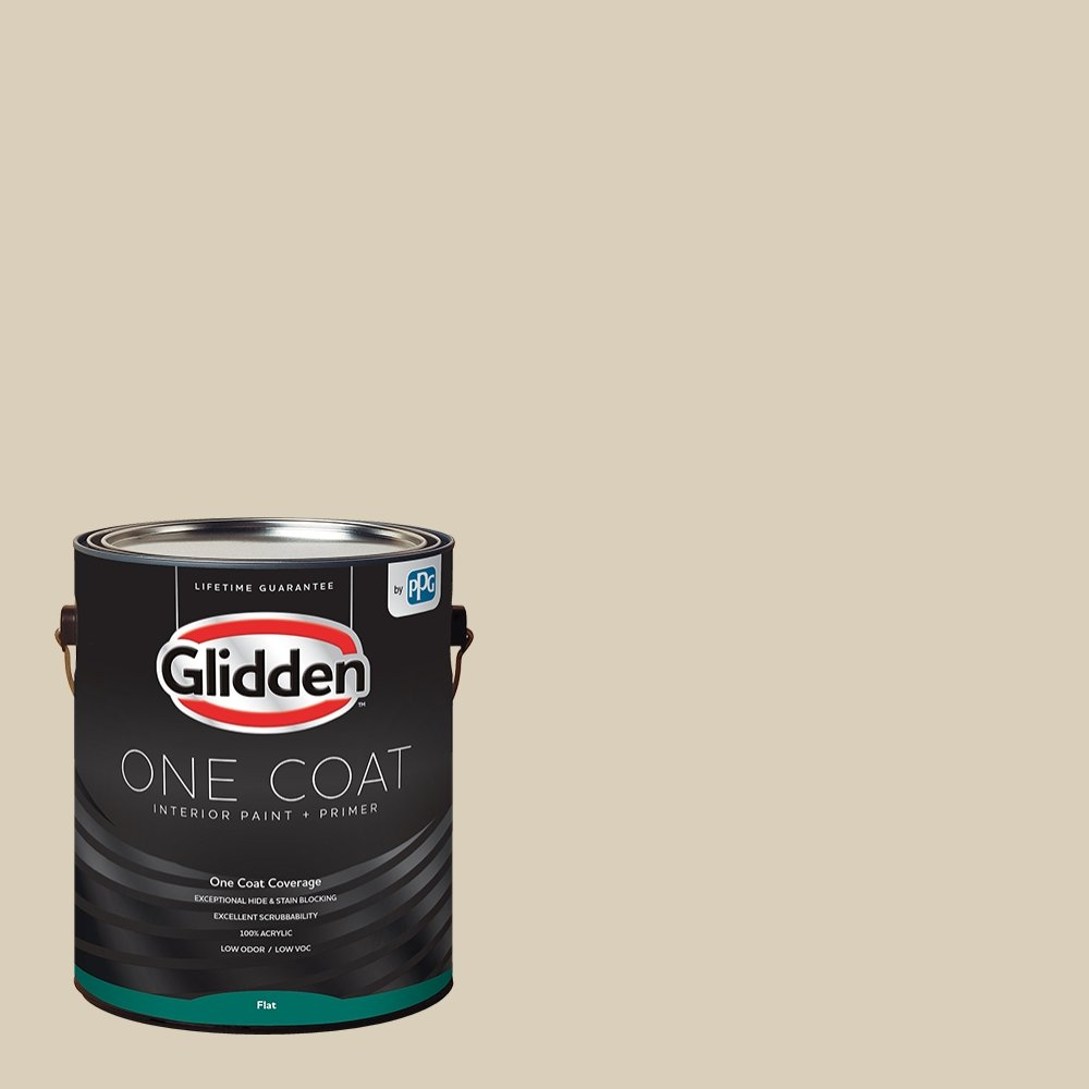 Glidden Interior Paint + Primer: Beige/Toasted Almond, One Coat, Flat, 1-Gallon