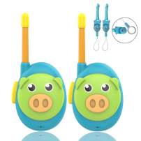 HUNICOM Toy Walkie Talkies for Kids, Children Two Way Radios for Toddlers, Easy to Use Kids Walkie Talkies Best Gifts Walky Talky Toys for Boys and Girls, 2 Pack