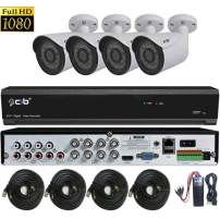 CIB True Full HD-TVI 8CH 1920TVL 1080P Video,Plus 4CH 4MegaPixel IP Input, DVR Security System with 2TB HDD,HDMI 4K/1080P Output,4x2.1Megapixel Vandal Bullet Color Cameras -T80P8K2T56W-TAI-4KIT