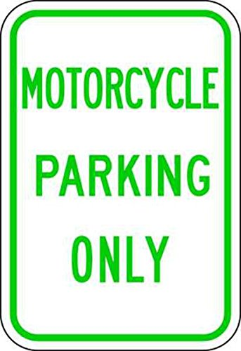 ZING 2379 Eco Parking Sign, Motorcycle Parking Only, 3M High Intensity Prismatic, Recycled Aluminum