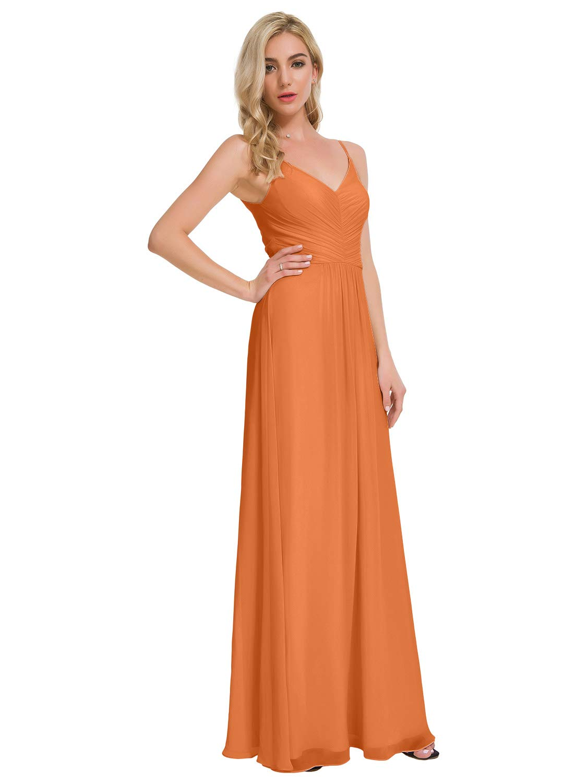 Alicepub V-Neck Chiffon Bridesmaid Dresses Long Maxi Prom Dress Evening Formal Gowns