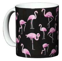 WILD COTTON Flamingos 11 Ounce Ceramic Coffee Mug (WC535M)