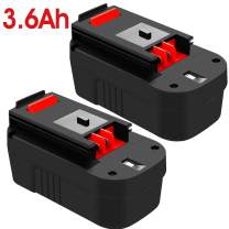 3.6Ah Ni-Mh HPB18 Battery Replacement for Black and Decker 18 Volt Battery HPB18-OPE 244760-00 A1718 FS18FL FSB18 Firestorm Cordless Power Tools 2 Packs