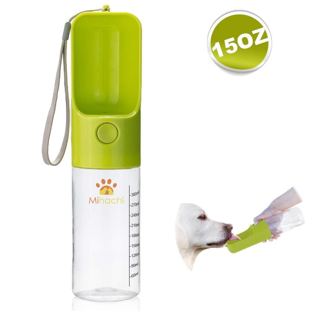 Dog Water Bottle for Walking, Portable Water Bottle with Bowl Dispenser Travel Drinking Feeder for Dog & Cat