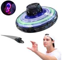 BONBRON Flynova Flying Spinner,Inductive Motion Aircraft,Flying Toy,Hand Operated Drones for Kids or Adults Scoot Hands Free Mini Drone Helicopter with Shinning LED Lights and 360°Rotating