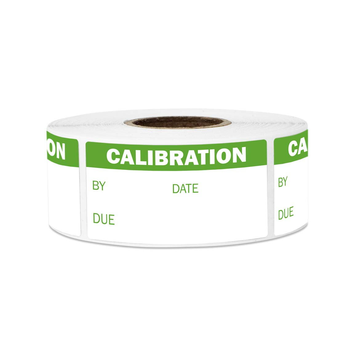 600 Labels - Calibration Stickers for NIST Calibration, ISO-900 Calibration, Quality Control (2 x 1 Inch, Green - 2 Rolls)