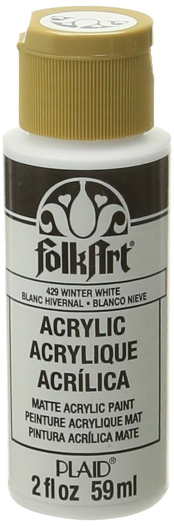 FolkArt Acrylic Paint in Assorted Colors (2 oz), 429, Winter White
