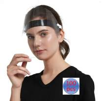 Giolshon 100 PCS Face Protection Protect Eyes and Face Anti-Fog Plastic Hat