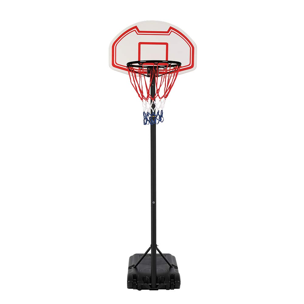 Portable Basketball Hoop, Basketball System Height Adjustable for Kids Youth,Adjustable Height 6.5ft - 8.1ft Indoor Outdoor Basketball Goal Game Play Set