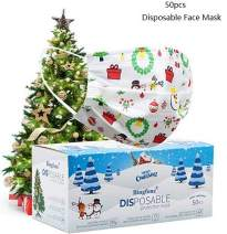 Disposable Face Masks,Disposable Masks For Women Men 50 pack Face Mask for Outdoor