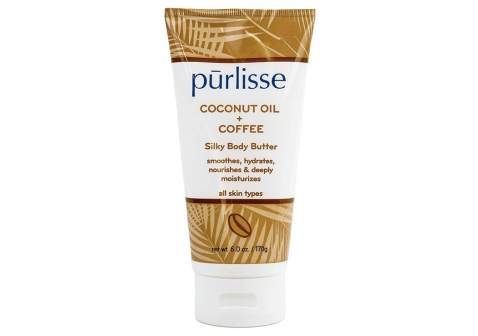 purlisse Coconut Oil + Coffee Silky Body Butter - Natural Moisturizer Cream for All Skin Types - Applying Treatment Deeply Hydrates, Nourishes & Moisturizes Skin, 6 Oz