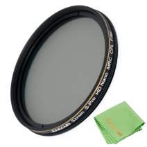 JONGSUN 52mm Polarizing Filter, Circular Polarizer Filter, S-Pro HD Nano MRC16, 16 Layers Multicoated, NITTO AGC Optics Glass, CPL Filter for Camera Lens
