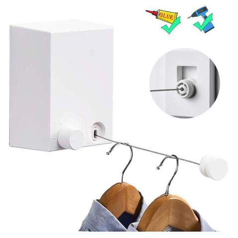 Drying Rope Laundry Hanger Punch Free High Strength Clothes Line Indoor Outdoor