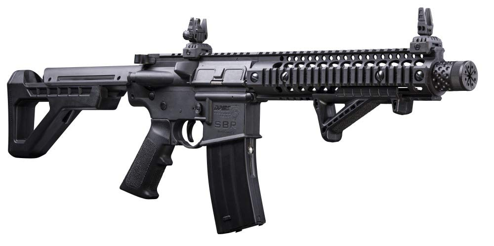 DPMS Full Auto SBR CO2-Powered  BB Air Rifle with Dual Action Capability