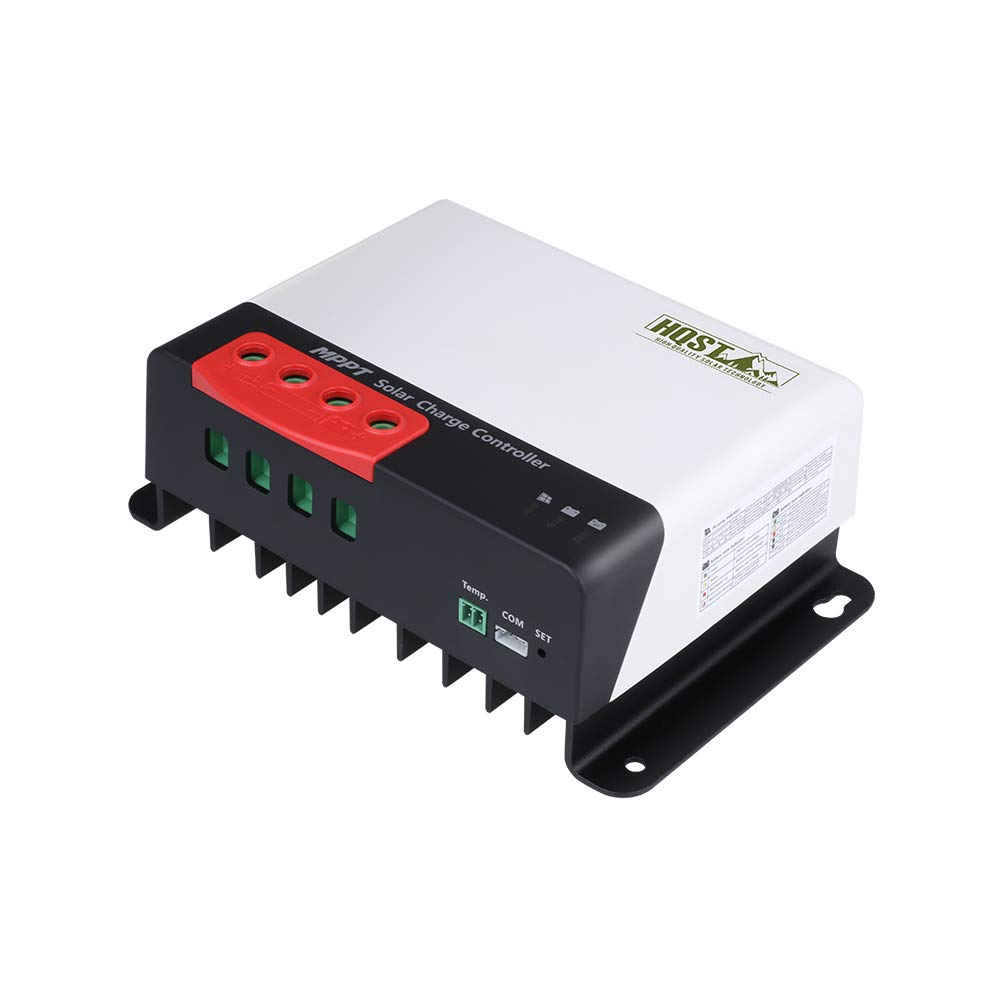 HQST 40A 12/24V MPPT Solar Charge Controller, Compatible with Sealed, Gel, Flooded, Gel, Lithium, User Defined Batteries