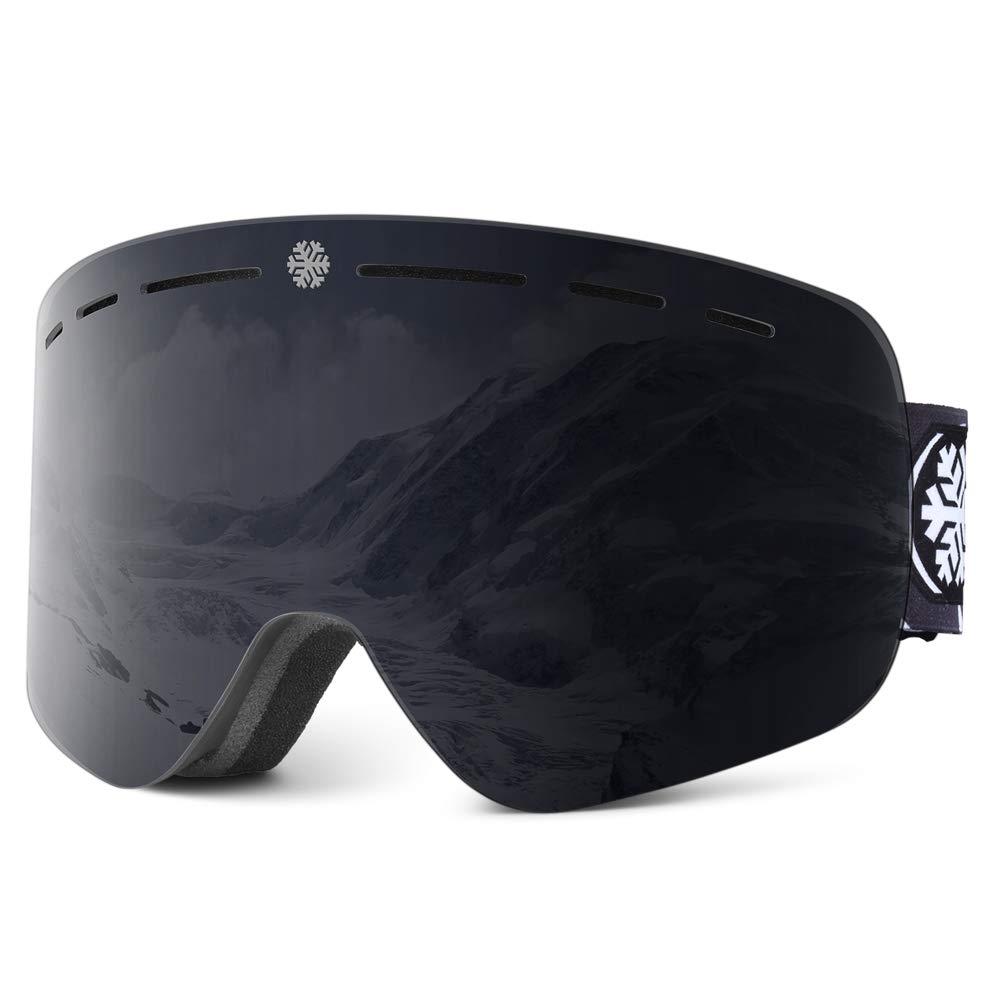 HUBO SPORTS Ski Goggles Snowboard Ski Goggles Skiing Goggles with Anti Fog, Anti Glare, Wind Resistance for Men, Women and Unisex