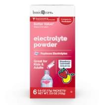 Amazon Basic Care Strawberry Lemonade Electrolyte Powder Packets, 6 Packets