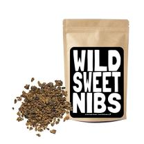 Wild Sweet Nibs, Raw Cacao Nibs Lightly Sweetened, Single-Origin Peru, Gluten-Free, NON-GMO Superfood - Baking, Smoothies, Recipes, Snacking (8 ounce)