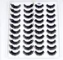 HBZGTLAD 20 Pairs 3D Soft Mink False Eyelashes Handmade Wispy Fluffy Long Mink Lashes Natural Eye Extension Makeup Kit Cilios (3D-XE)