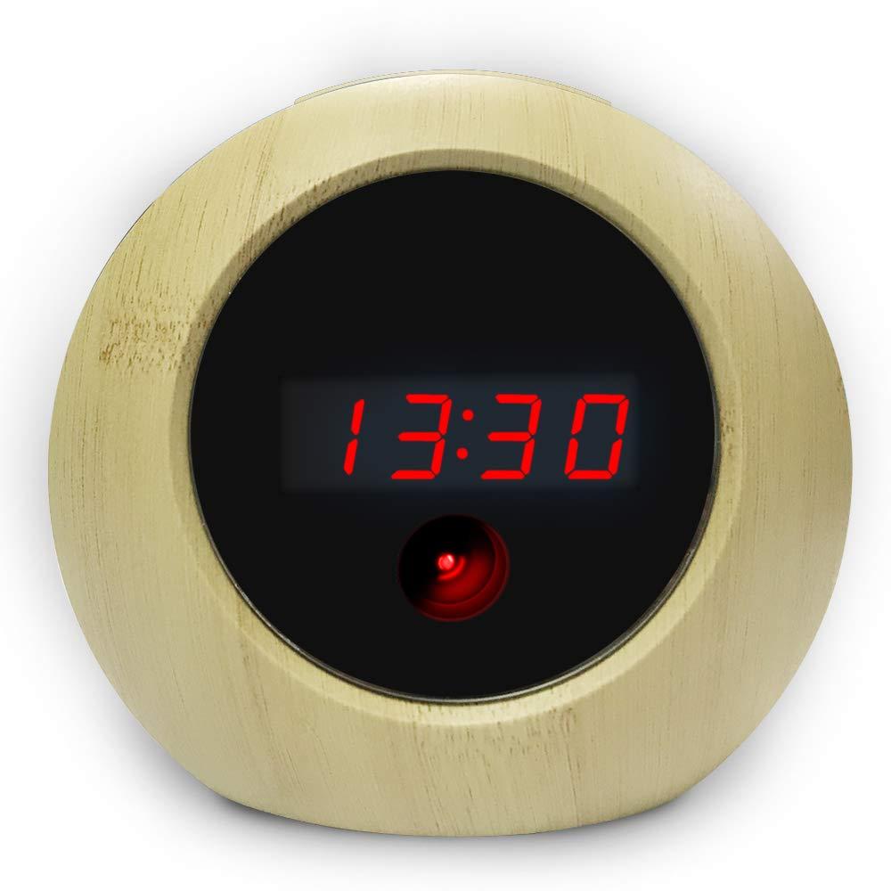 Spy Camera Alarm Clock HD 1080P Hidden Camera Motion Activated Video Recording Nanny Cam for Home Security Video Camera