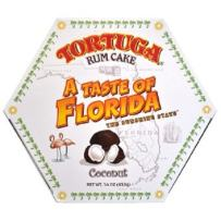 TORTUGA Caribbean Taste of Florida Coconut Rum Cake - 4 oz Rum Cake - The Perfect Premium Gourmet Gift for Gift Baskets, Parties, Holidays, and Birthdays