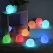LOFTEK 12 Packs Floating Pool Light, Upgrade RGB Color Changing LED Pool Balls, IP65 Waterproof Light Up Bath Toys, Battery Night Light for Kids, Perfect for Pool Swimming,Pond, Yard Christmas Decor