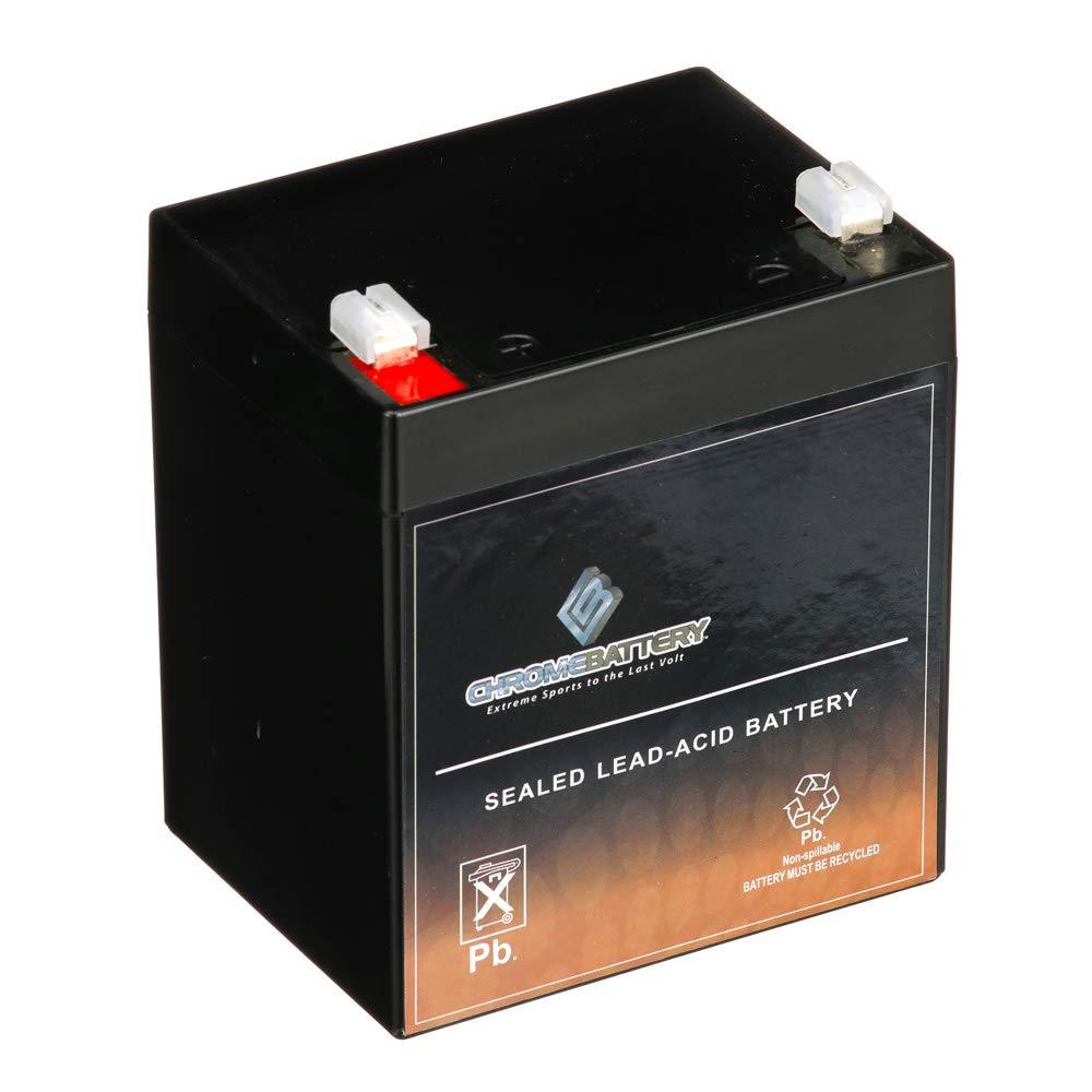 Chrome Battery 12V 4.5AH SLA Battery - Rechargeable, Replaces Alarm Batteries