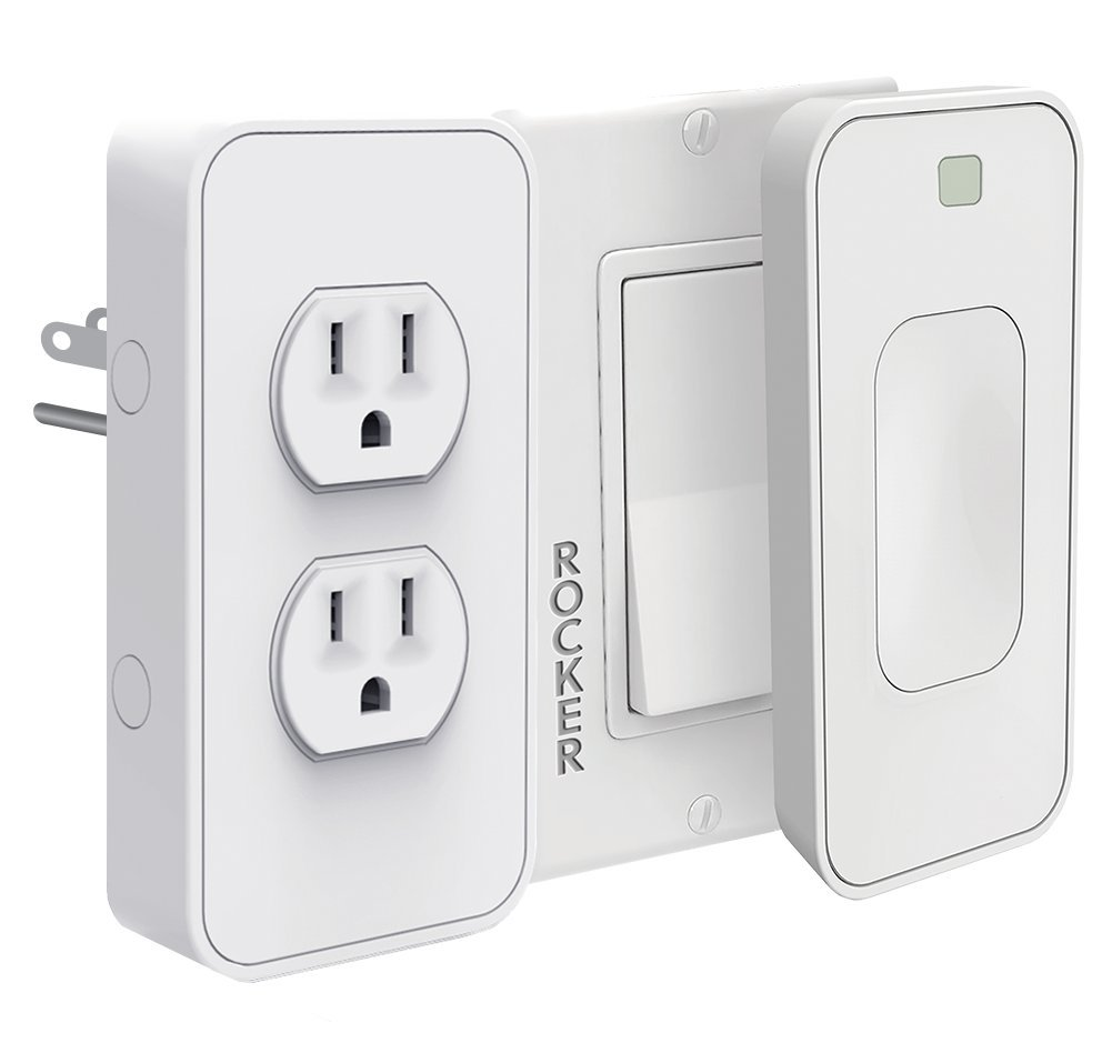 Switchmate Power and Light Switches Kit, Dual Outlet, Light Switch Timer/Automation, Amazon Alexa, Google Home, DIY, USB Charger, Nightlight, No tools/Wiring, Motion Detector, Smart Home