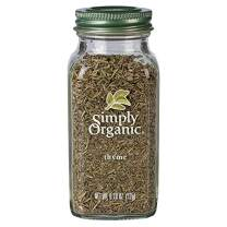 Simply Organic Whole Thyme Leaf, Certified Organic | 0.78 oz | Thymus vulgaris L.