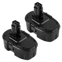 2Packs 18 Volt 3600mAh Replacement for Dewalt 18V Battery DC9096 DC9098 DC9099 DW9095 DW9096 DW9098 DE9038