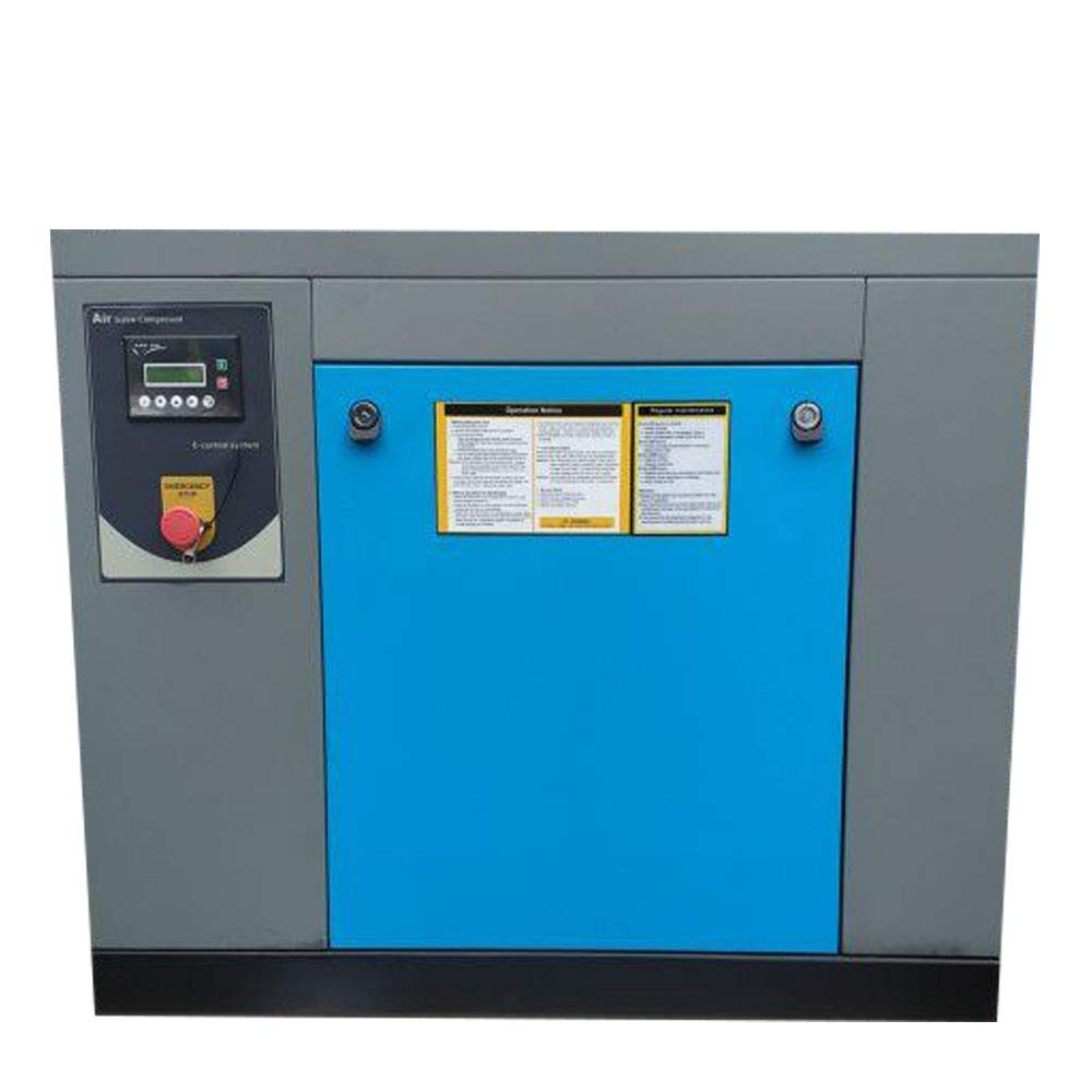 """HPDAVV Rotary Screw Air Compressor 10HP / 7.5KW - 39-35CFM @ 125-150PSI - 230V/ 3-Phase/ 60Hz - NPT3/4"""" Skid Commercial Air Compressed System with Spin-on Air Oil Separator"""