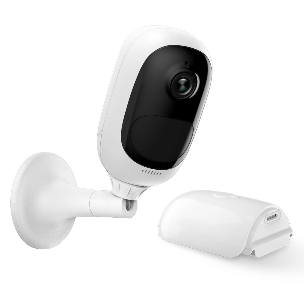 Reolink Argus Pro Wireless Outdoor Security Camera Rechargeable Battery-Powered, HD Video Night Vision, 2-Way Talk, PIR Motion Detection Siren Alert, Support Google Assistant/Cloud Storage/SD Socket