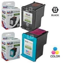 LD Remanufactured Ink Cartridge Replacements for HP 92 & HP 93 (1 Black, 1 Color, 2-Pack)