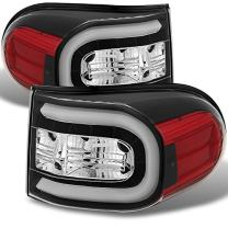For 07-14 Toyota FJ Cruiser GSJ15W Black LED Light Tube Design LED Tail Lights Brake Lamps Replacement