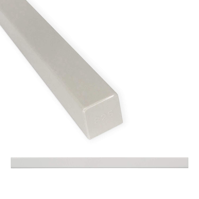 Tile Trim 3/4 x 12 inch Linear Flat Pencil Shower Edge Ceramic Tile Transition Liner Backsplash Wall Molding - Polished Gray (12 Pack)