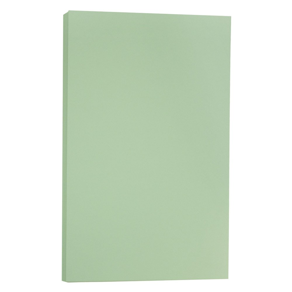 JAM PAPER Legal Vellum Bristol 67lb Cardstock - 8.5 x 14 Coverstock - Green - 50 Sheets/Pack