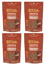BIENA Non-GMO Roasted Chickpea Snacks, Cinnamon Crunch, 5 Ounce (Pack of 4)