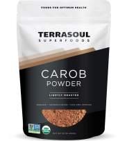 Terrasoul Superfoods Organic Carob Powder, 1 Lb - Cocoa Powder Alternative   High in Fiber