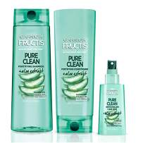 Garnier Hair Care Fructis Pure Clean Shampoo, Conditioner, and Detangler, Made With Aloe and Vitamin E Extract, Vegan and Paraben Free, 1 Kit