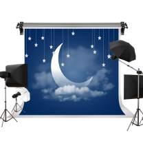 Kate 7x5ft/2.2m(W) x1.5m(H) Evening Blue Sky Photography Backdrops Moon Night Sky Fantasy Backdrop Stars Background Children Birthday Photo Studio Props