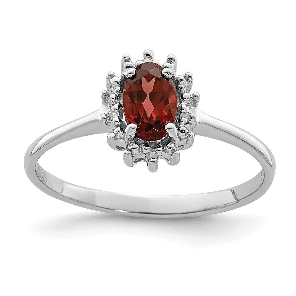 925 Sterling Silver Red Garnet Diamond Band Ring Stone Gemstone Fine Jewelry For Women Gift Set