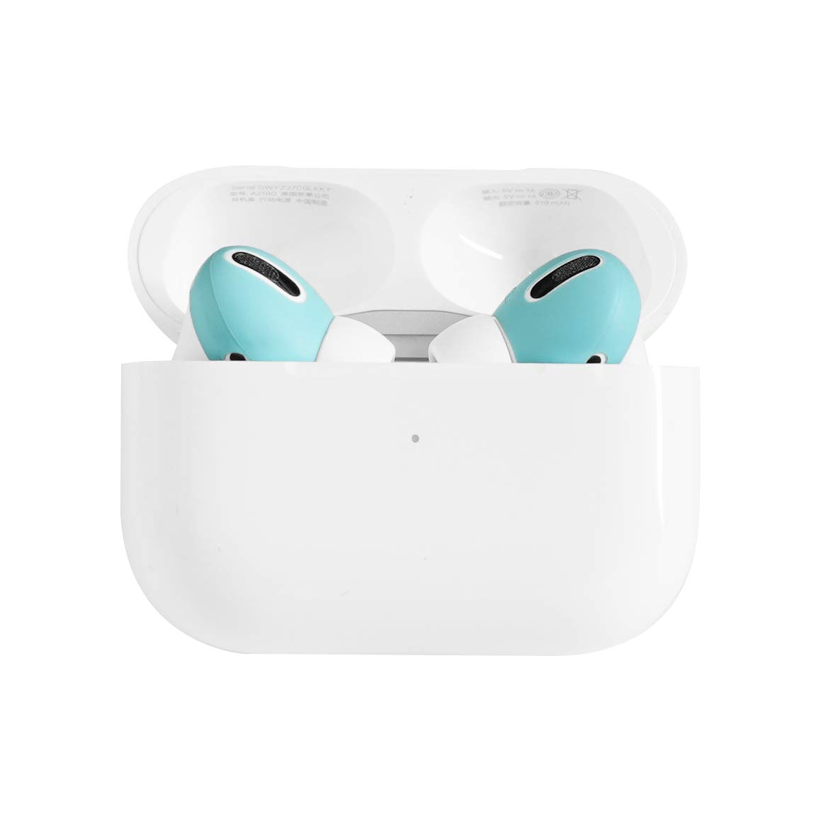 DamonLight AirPods Pro Cover [Fit in The case] [Comfortable Listening] Compatible with AirPods Pro Anti-Slip Silicone eartips Soft Sport Covers AirPods Pro Accessories2 Pairs (Ice Blue)
