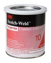 3M Neoprene Contact Adhesive 10, Light Yellow, 1 Gallon Can