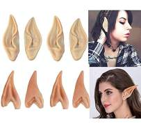 Latex Elf Ears, 4 Pair Fairy Pixie Elf Ears Pointed Prosthetic Ear Elven Ears Cosplay Accessories Party Favor
