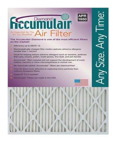Accumulair FD16X25 Diamond 16x25x1 (15.5x24.5) MERV 13 Air Furnace Filters (2 Pack)