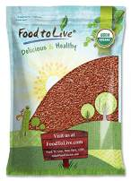 Organic Brown Flax Seeds, 10 Pounds — Whole Flaxseeds, Non-GMO, Kosher, Raw, Dried, Sproutable, Bulk