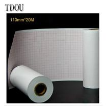 TDOU Thermal Paper Roll ECG Paper 110mm20M for CE Marked Digital 12 Leads 3/6 Channel ECG Machine ECG600G Insulation Paper