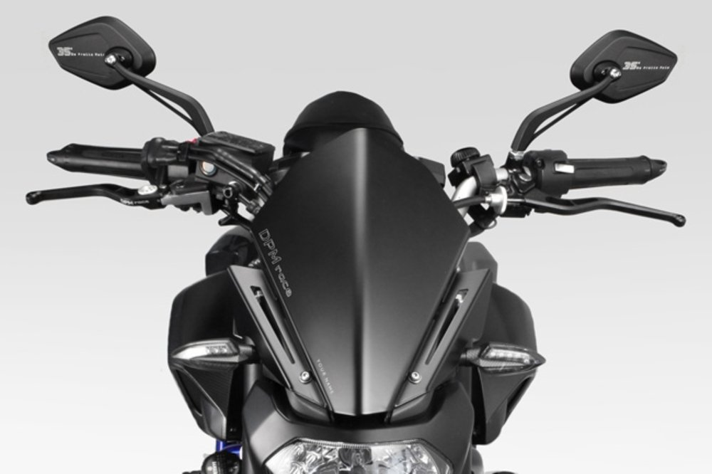MT 07 FZ07 2014/17 - Kit Windscreen 'Warrior' (R-0738B) - Aluminum Windshield Fairing - Hardware Fasteners Included - De Pretto Moto Accessories (DPM Race) - 100% Made in Italy