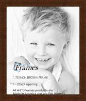 ArtToFrames WOM82223-103-20x24 Barnwood Wood Picture Frame, 20 x 24, Brown